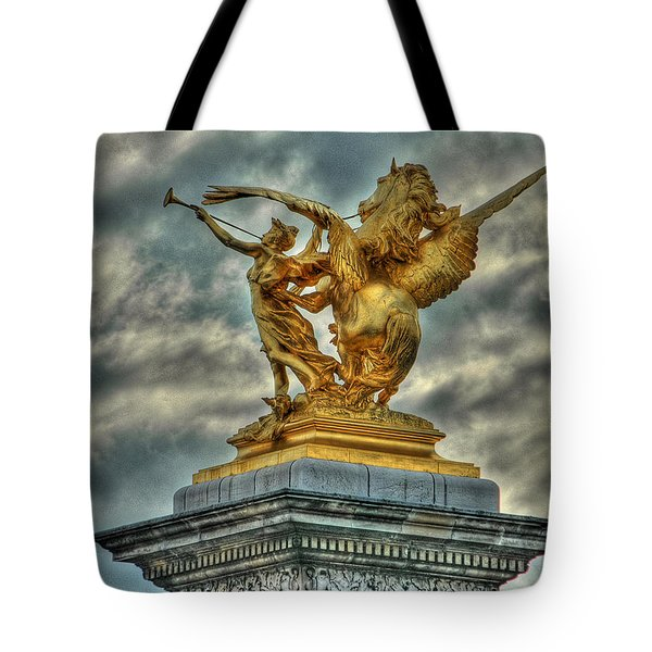 Statue On Pont Alexandre IIi Tote Bag