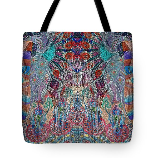 Mirrored Statues  Tote Bag