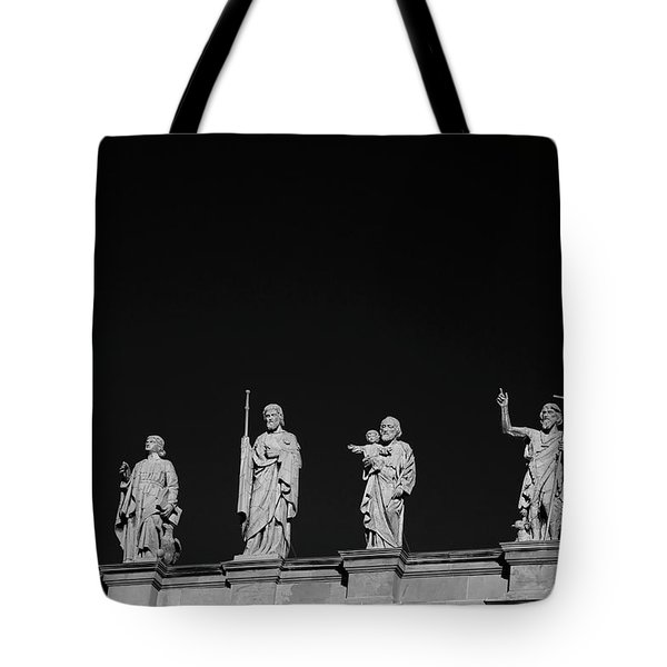 Statues On Mary, Queen Of The World Tote Bag