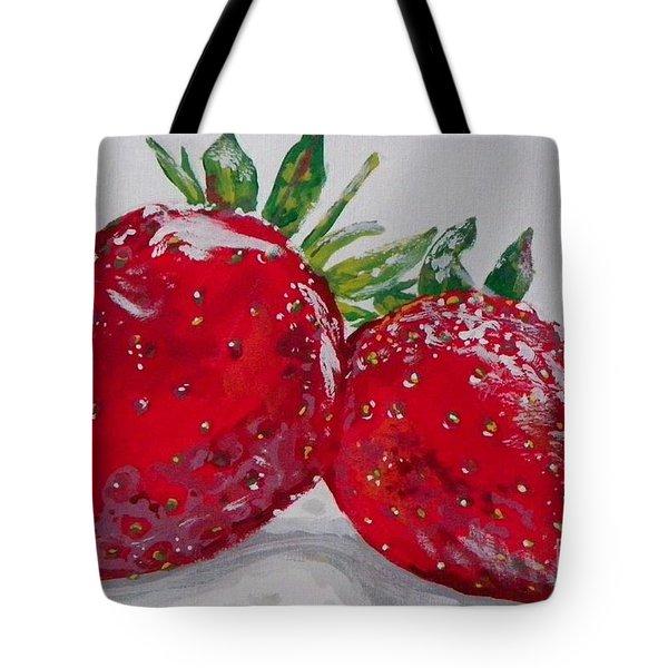 Stawberries Tote Bag