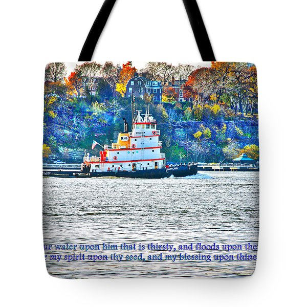 Stay Afloat With Hope Tote Bag by Terry Wallace