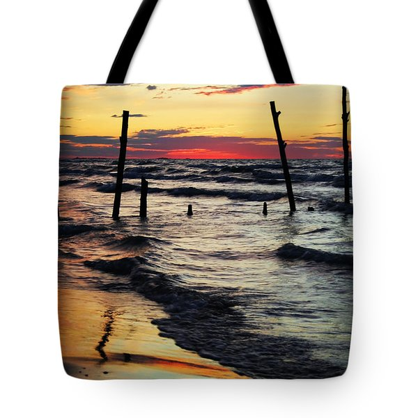 Stay Ashore Tote Bag by Barbara McMahon