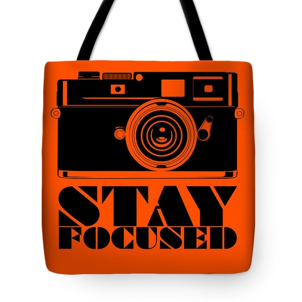 Stay Focused Poster Tote Bag