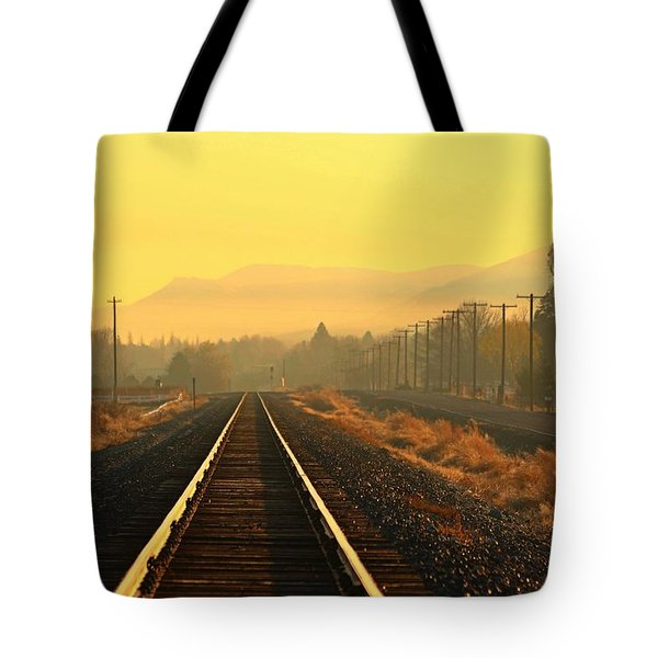 Tote Bag featuring the photograph Stay On Track by Lynn Hopwood