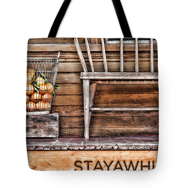 Stayawhile Tote Bag by Diana Sainz
