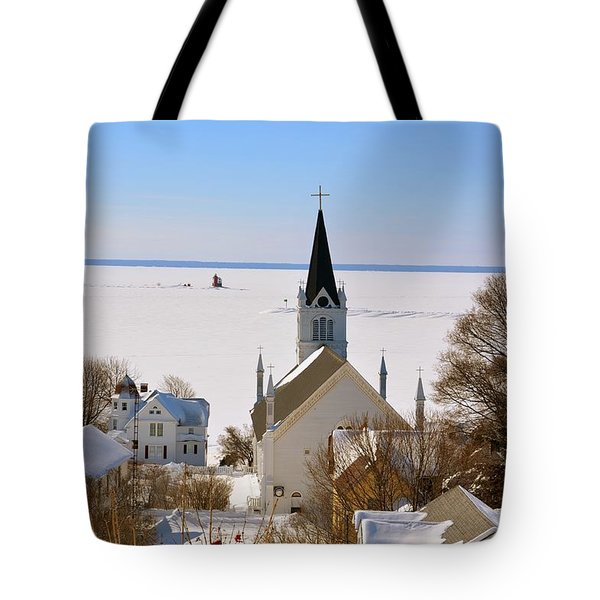 Ste. Anne's In Winter Tote Bag