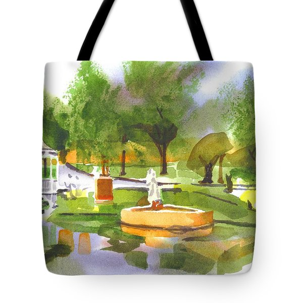 Ste Marie Du Lac In Watercolor II Tote Bag