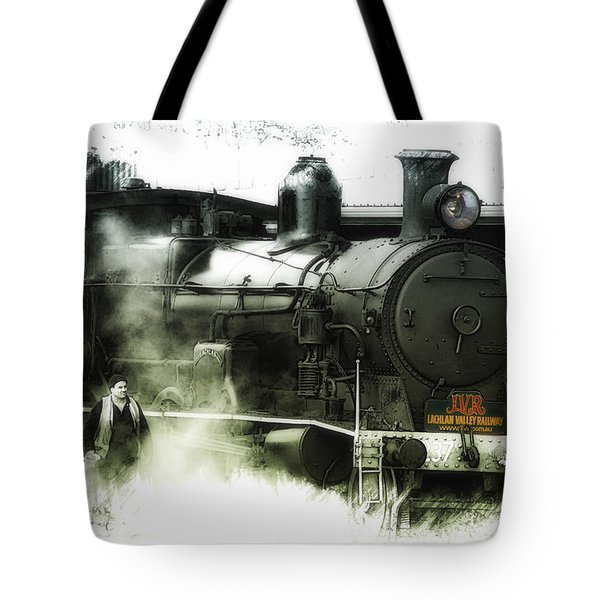 Tote Bag featuring the photograph Steam 01 by Kevin Chippindall