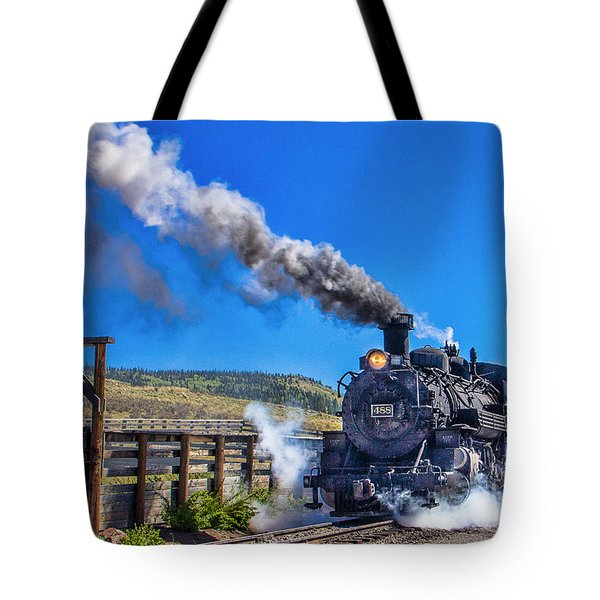 Steam Engine Relic Tote Bag by Steven Bateson