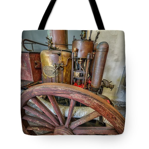 Steam Fire Engine Tote Bag by Adrian Evans