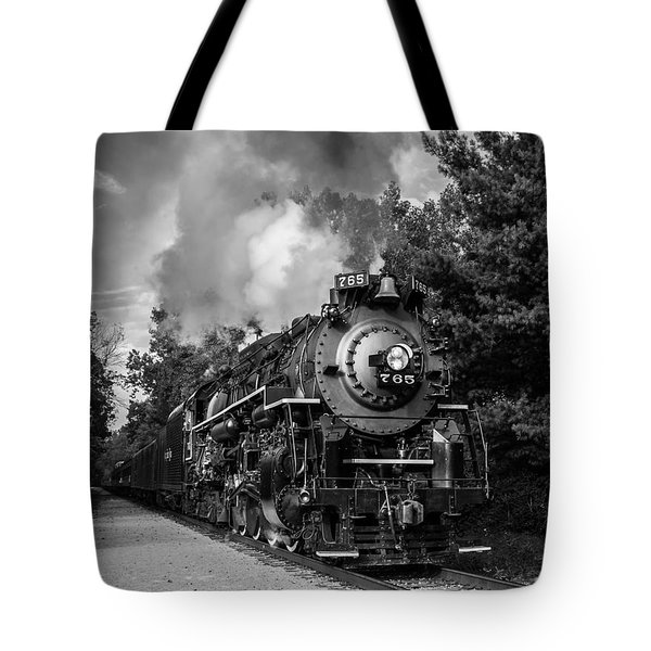 Steam On The Rails Tote Bag