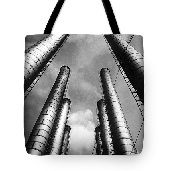 Steam Pipes At Factory Tote Bag