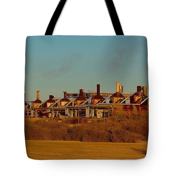 Tote Bag featuring the photograph Steam Plant In Cymric Field by Lanita Williams