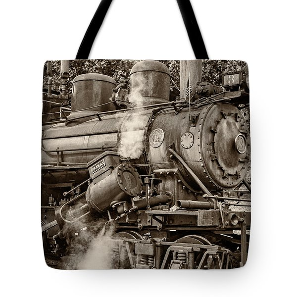 Steam Power Sepia Tote Bag