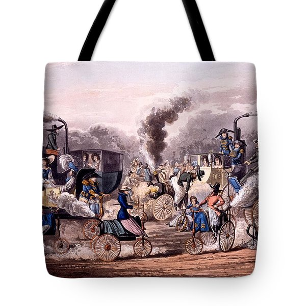 Steam-powered Vehicles Tote Bag