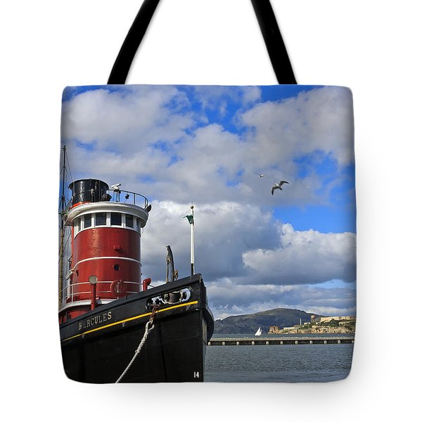 Tote Bag featuring the photograph Steam Tug Hercules by Kate Brown