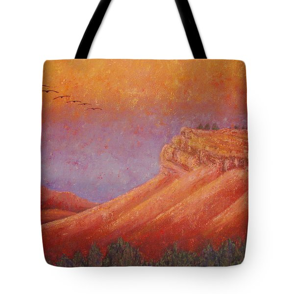 Steamboat Mountain At Sunrise Tote Bag by Margaret Bobb