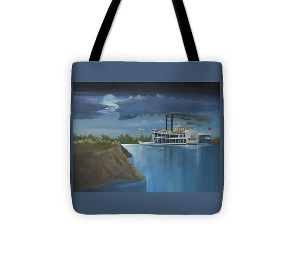 Steamboat On The Mississippi Tote Bag by Stuart Swartz