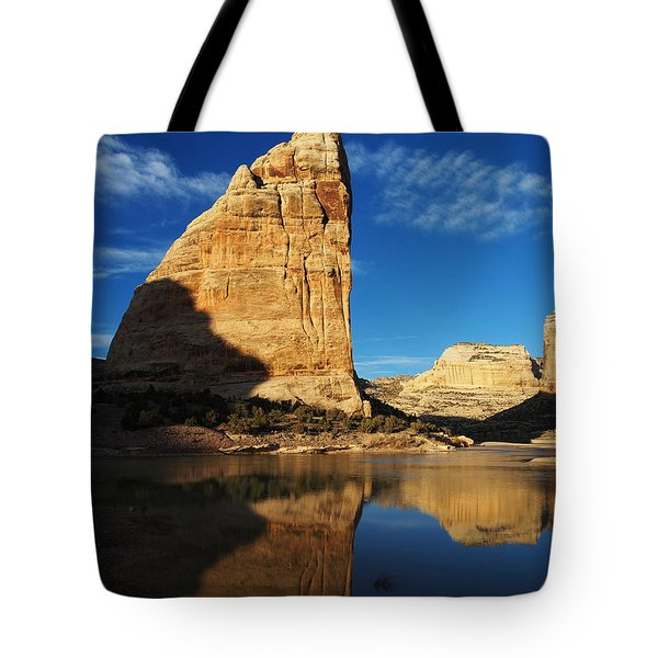 Steamboat Rock In Dinosaur National Monument Tote Bag