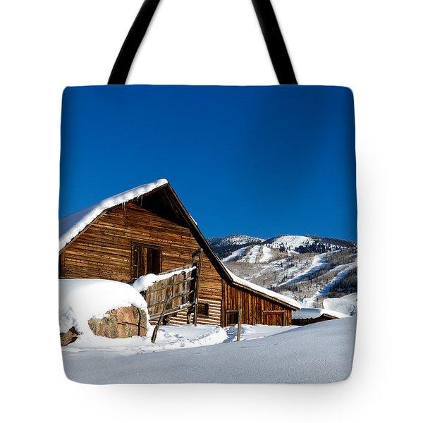 Steamboat Springs History Tote Bag by Teri Virbickis