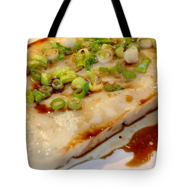Tote Bag featuring the photograph Steamed Cantonese Fish Cake by Katy Mei