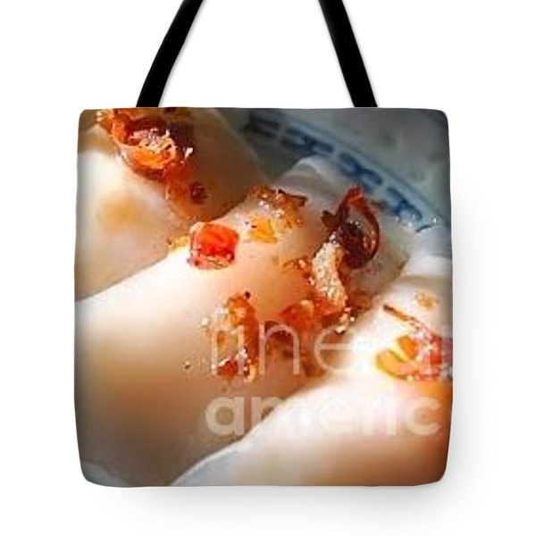 Tote Bag featuring the photograph Steamed King Prawn Dumpling by Katy Mei