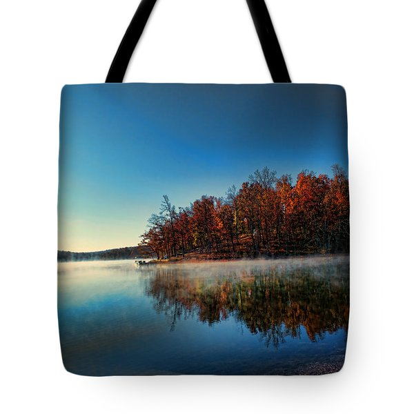 Steaming Reflection Tote Bag by Rick Friedle