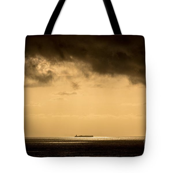 Steaming Thru The Sunrise Tote Bag by Rene Triay Photography