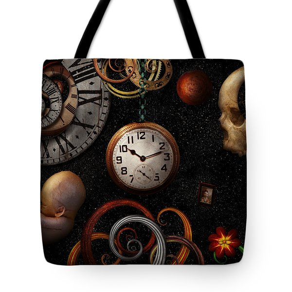 Steampunk - Abstract - The Beginning And End Tote Bag by Mike Savad