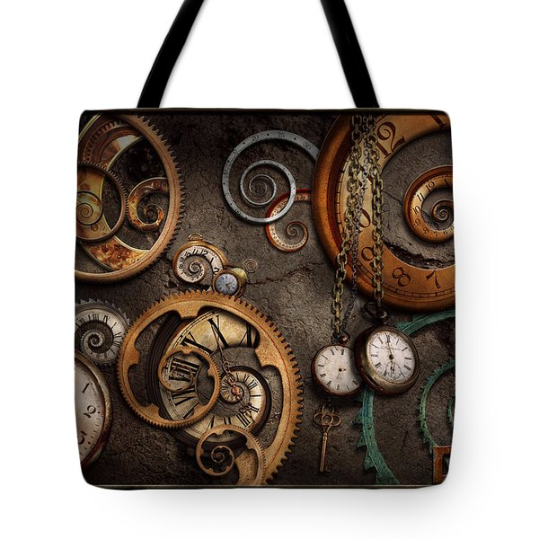 Steampunk - Abstract - Time Is Complicated Tote Bag
