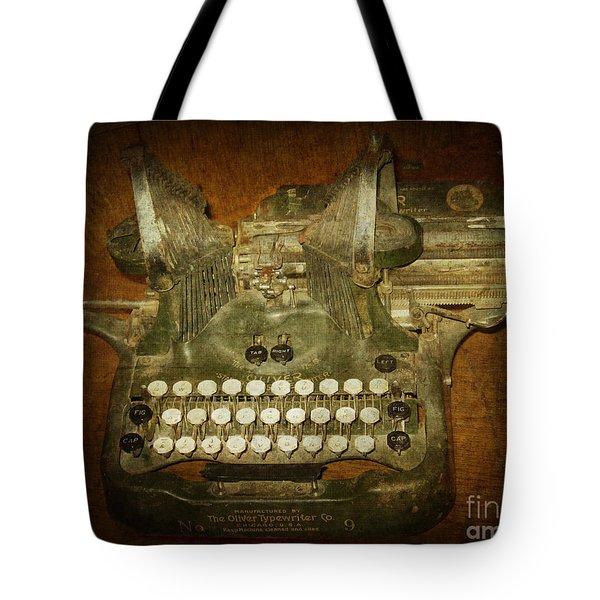Steampunk Antique Typewriter Oliver Company Tote Bag by Svetlana Novikova