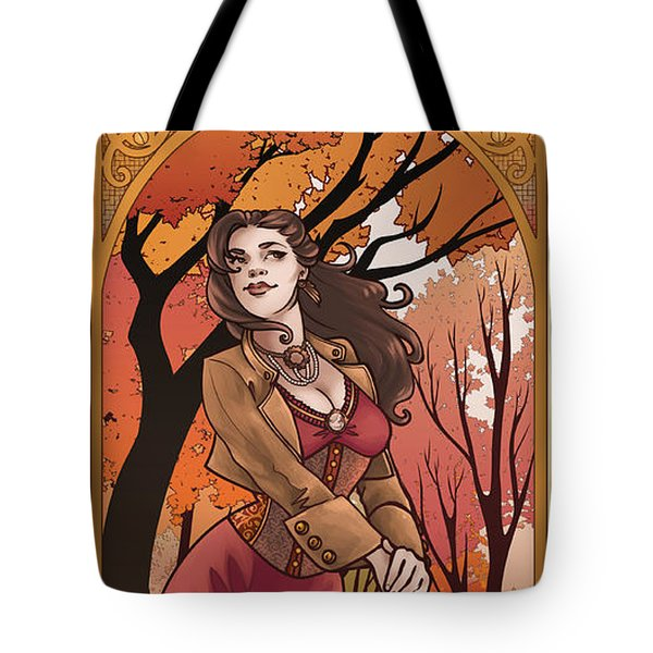 Steampunk Autumn Tote Bag by Dani Kaulakis