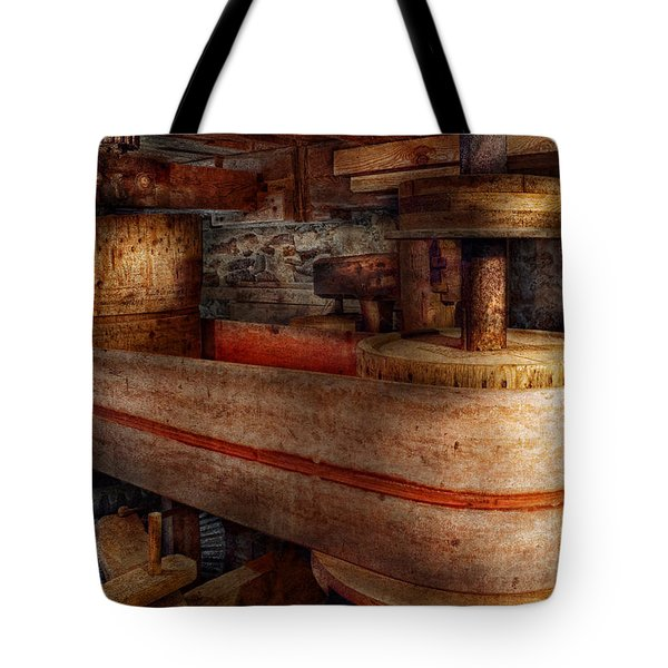 Steampunk - Belts - Old School Is Best Tote Bag by Mike Savad