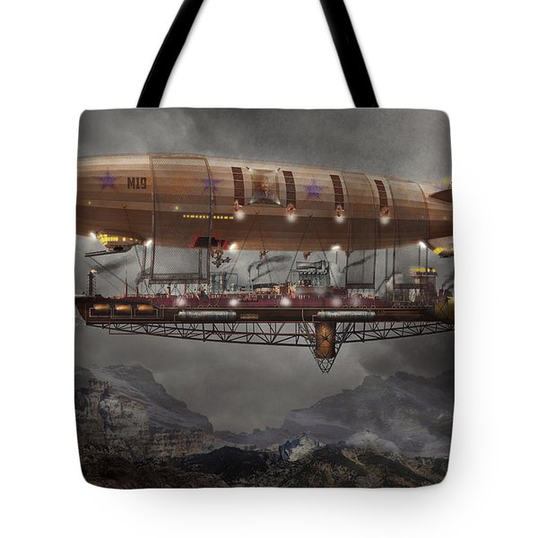 Steampunk - Blimp - Airship Maximus  Tote Bag