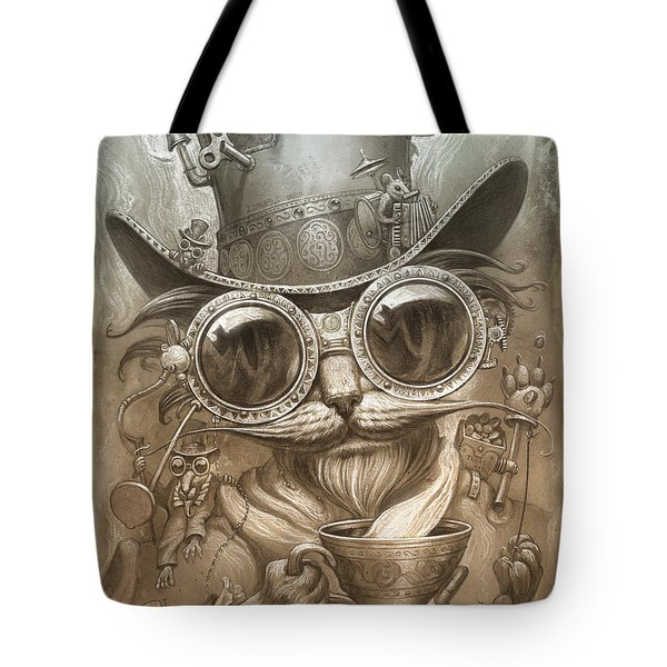Steampunk Cat Tote Bag