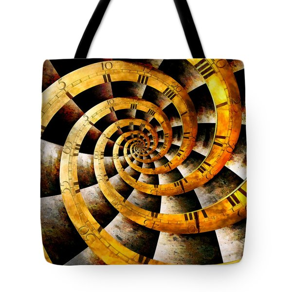 Steampunk - Clock - The Flow Of Time Tote Bag by Mike Savad
