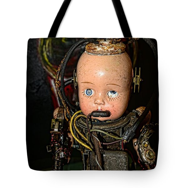 Steampunk - Cyborg Tote Bag by Paul Ward