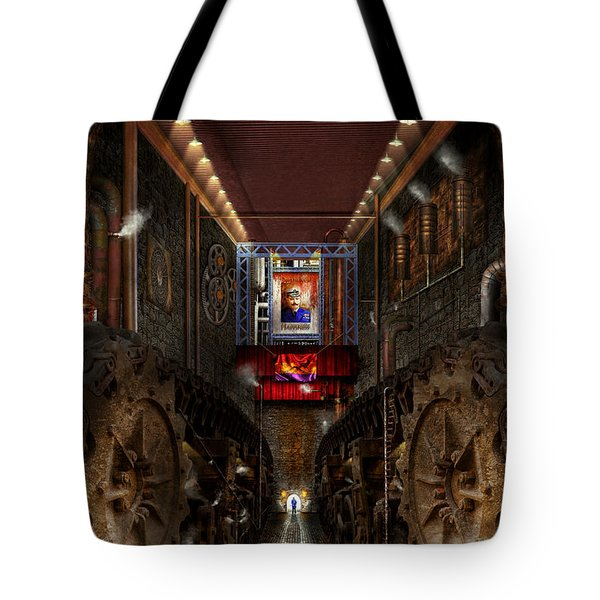 Steampunk - Dystopian Society Tote Bag by Mike Savad