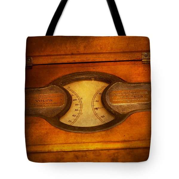 Steampunk - Electrician - The Portable Volt Meter Tote Bag by Mike Savad