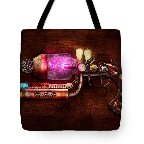 Steampunk - Gun -the Neuralizer Tote Bag by Mike Savad