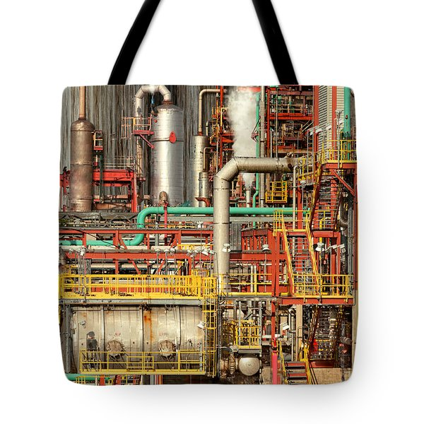 Steampunk - Industrial Illusion Tote Bag by Mike Savad
