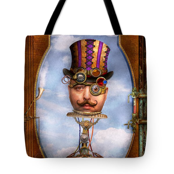 Steampunk - Integrated Tote Bag by Mike Savad