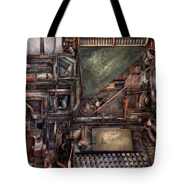 Steampunk - Machine - All The Bells And Whistles  Tote Bag by Mike Savad