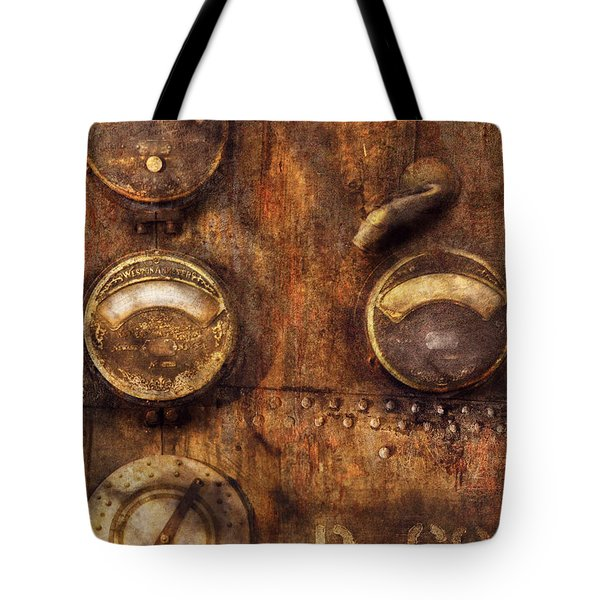 Steampunk - Meters D-66 Tote Bag by Mike Savad