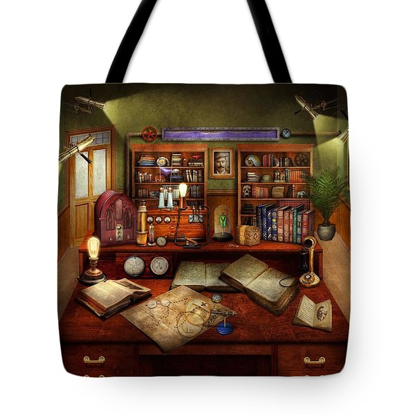 Steampunk - My Busy Study Tote Bag by Mike Savad