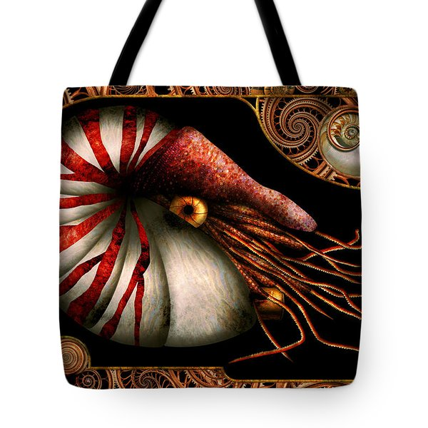 Steampunk - Nautilus - Coming Out Of Your Shell Tote Bag by Mike Savad
