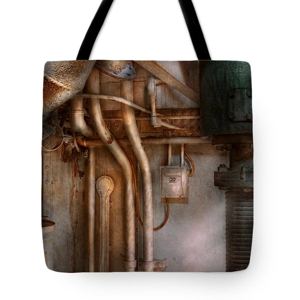 Steampunk - Plumbing - Industrial Abstract  Tote Bag by Mike Savad