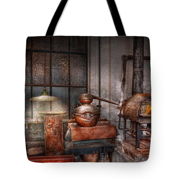 Steampunk - Private Distillery  Tote Bag by Mike Savad