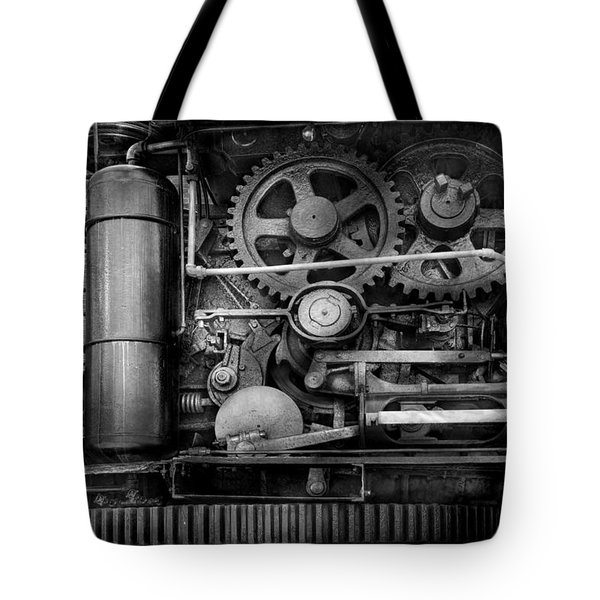 Steampunk - Serious Steel Tote Bag by Mike Savad