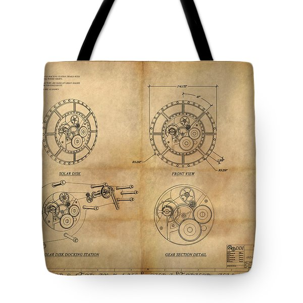Steampunk Solar Disk Tote Bag by James Christopher Hill